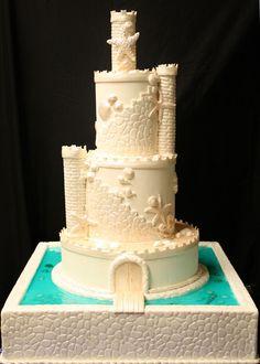Sand Castle- Beach Theme- Wedding Cake- the cake zone- FL |
