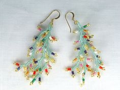 Wildflowers in the Sage Seed Bead Earrings by SierraBeader on Etsy, $34.00