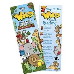 I'm Wild About Reading Bookmark  Item # KM-285E