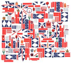 Flag pattern - Afternoon Tea, Japan. Jenny Bowers.