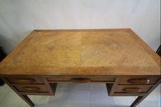 Lovely Golden Oak Desk fully restored and sold by London Antiques Bigastro Orihuela Alicante Spain only Eu350