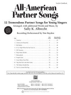 All American Partner Songs (Reproducible Book&nbs | J.W. Pepper Sheet Music
