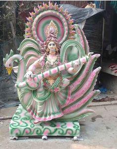 Jai Maa Saraswati, Saraswati Murti, Saraswati Photo, Durga Ji, Saraswati Goddess, Kali Puja, Quilling Work, Hindu Rituals, Sai Baba Photos