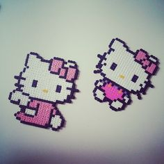 Hello Kitty hama beads by evalinneamarie