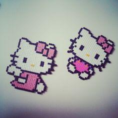Hello Kitty hama beads by evalinneamarie