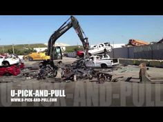 Car Transmission And Engine Ripped Out At The Junk Yard - AWESOME!!!