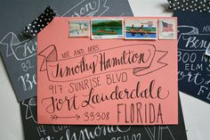 @Casey Marchbanks fonts. Custom Envelope Addressing  The Avery by Makewells on Etsy, $2.25