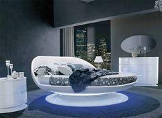 weißer schlafzimmer mit roten kissen | bedroom | pinterest - Runde Betten Schlafzimmer Moebel Ideen