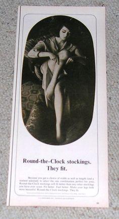 1964 Round-The-Clock Leg Stocking Half-Page Ad.