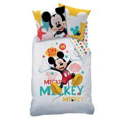 Parure de couette pour enfant Blanc à motifs - Mickey - Les parures de lit enfants - Linge de lit enfant - Linge de maison - Décoration d'intérieur - Alinéa