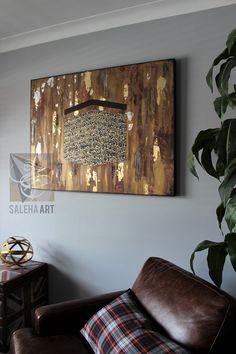 Islamic Art Canvas, Islamic Paintings, Islamic Wall Art, Canvas Art, Islamic Art Pattern, Pattern Art, Surah Fatiha, Islamic Decor, Arabian Art