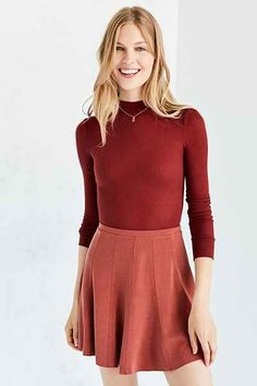 Silence + Noise Spin City Knit Skater Skirt - Urban Outfitters