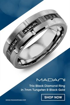Titanium Anodized Blue Sapphire 6mm Triple Grooved Wedding Band Sizes 5 to 12