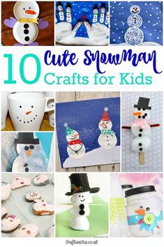 These cute snowman crafts for kids are perfect for some fun winter crafting! Loads of snowman craft ideas including salt dough, lantern and egg box crafts