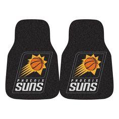 Phoenix Suns Nba 2-piece Printed Carpet Car Mats (18x27)