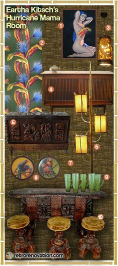 A tiki bar for your basement — three mood boards - Retro Renovation