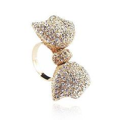 lovely bow ring