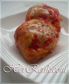 Kasede Lahana Dolması-porsiyonluk dolma tarifi,cabbage stuffed,kolay lahana nasıl sarılır,yapılır,beyaz etli lahana dolması,yemekleri,misafir için,davet sofraları için,iftara şık dolma tarifi, Tek kişilik,