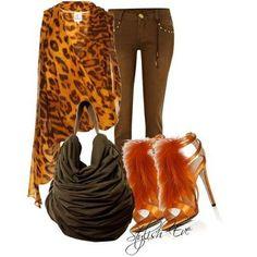 Cute leopard ensemble