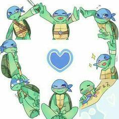Hi is so cute 💙💙💙💙 Tmnt 2012, Ninja Turtles Art, Teenage Mutant Ninja Turtles, Tortugas Ninja Leonardo, Turtles Forever, Tmnt Leo, Tmnt Girls, Leonardo Tmnt, Boboiboy Galaxy