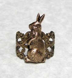 Forest Rabbit Ring Band on Etsy, ¥1,381.91