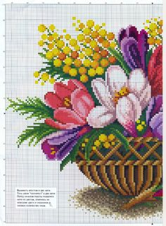 Gallery.ru / Photo # 36 - flowers, embroidery schemes from the Internet - poodel