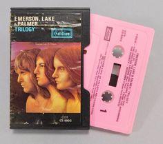 Emerson Lake & Palmer, Trilogy, Cotillion CS 9903, 1972 Clamshell Case Cassette #ProgressiveArtRock