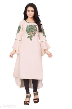 Kurtis & Kurtas Women'S Printed Rayon Slub  Kurti Fabric: Rayon Slub Sleeves: 3/4 Sleeves Are Included Size:  M - 38 in L - 40 in XL - 42 inXXL - 44 in Length: Up To 46 in Type: Stitched Description: It Has 1 Piece Of Women's Kurti Work: Embroidered & Tassel Work Country of Origin: India Sizes Available: M, L, XL, XXL   Catalog Rating: ★4.1 (489)  Catalog Name: Women'S Printed Cotton Kurtis CatalogID_398614 C74-SC1001 Code: 714-7497717-4011