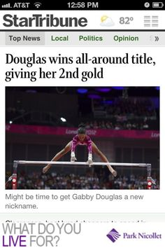 Gabby Douglas' historic all-around gold in the women's artistic gymnastics competition at the London 2012 Olympic Games!