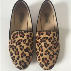 Steve Madden Leopard Cheetah Hair Flats slip on Preowned. ✨ Calf Hair on Hide. So Trendy & Adorably cute.  ⭐️ No Trades No Paypals ⭐️ 15% off bundles in my closet ⭐️ Ask all questions before buying ⭐️This item is used & may have imperfections Steve Madden Shoes Flats & Loafers