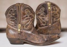 Cognac Cowboy Ankle Boots by Juliana Weber