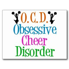 Shop Obsessive Cheer Disorder Postcard created by epicdesigns. Cheerleading Photos, High School Cheerleading, Cheer Stunts, All Star Cheer, Cheer Mom, Youth Cheer, Cheer Quotes, Cheer Coaches, Quick Quotes