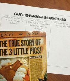 Excellent ideas for teaching persuasive text and a great freebie!