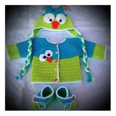 The Original Knit Baby Sweater With Hat and Bootie Set - Angry Bird #winterbabyclothes #babyboutique #trendybabyclothes