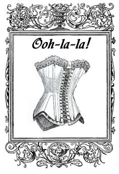 **FREE ViNTaGE DiGiTaL STaMPS**: FREE Digital Stamp - Vintage Corset