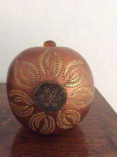 Lampe calebasse bijou Gourd lamp vendue