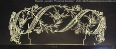 Chaumet interwoven leaf and flower-head frond and diamond ribbon tiara/bandeau