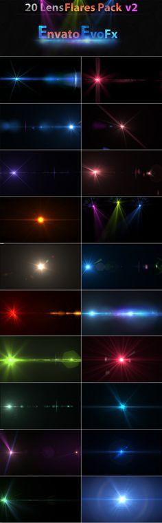 20 Lens Flares Pack v2 by EvoFx1.deviantart.com