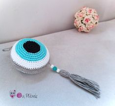 Evil Eye Hanging, Crochet Evil Eye, Baby Room Decor, Baby Charm, Baby Shower Gift, Good Luck Gift, Crib Decor, Newborn Gift, Island Style by Ouplexeis on Etsy Crochet Baby Beanie, Crochet Toddler, Crochet Girls, Unicorn Hat, Crochet Unicorn, Newborn Gifts, Baby Gifts, Good Luck Gifts, Pink Beanies