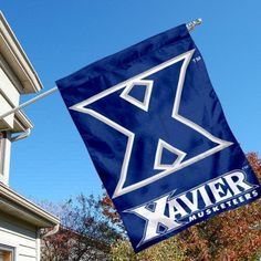 Xavier University Musketeers House Flag by College Flags and Banners Co.. $23.95. Xavier University Musketeers House Flag is 28x40 inches in size, is made of single-ply polyester with double-sided bottom school panel, has a top sleeve for insertion of a wood or aluminum flagpole, and the Licensed NCAA School logos are screen printed into this Xavier University Musketeers House Flag.. Save 14% Off! Xavier University, Musketeers, Garden Flags, Outdoor Gardens, Banners, Screen Printing, College, Gift Ideas, Logos
