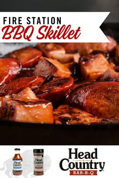This recipe can be made using whatever sausage varieties you may have. Our version has been scaled to 6 hearty servings of our favorite combo. Plan on 1/3 pound of meat per person, with additional sides if scaling up or down. Summer Grilling Recipes, Pot Roast, Skillet, Barbecue, Sausage, Camping, Meat, Ethnic Recipes, Food