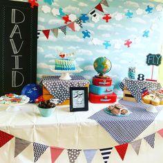 Airplane birthday party #aviationparty