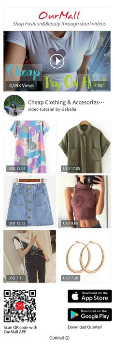 Gabella, Thanks for watching you guys, heres the haul from ourmall and my honest opinion on the affordable clothing & jewelry :~)items from the video:0:30 Multicolor Cat Print Shirt Dress http://ourmall.com/?6j2IRz1:15 Army Green Roll-up Cuff Lapel Button Blouse  http://ourmall.com/?zIr2eu2:15 Blue Denim Skirt http://ourmall.com/?Fr63ua4:15 Red Tur...,