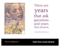 """LibraryAware customers can engage your patrons with this template in-house or via social media. Search flyers for, """"Zora""""."""