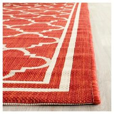Renee Runner 2'3X10' Patio Rug - Red/Bone - Safavieh