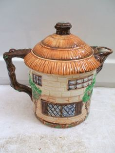 "Beswick Cottage Ware Decorative Circular Tea Pot 6.5""High 5""Diameter | eBay"
