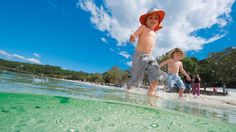 Lake McKenzie is one of 40 perched lakes on Fraser. Fraser Island, Creature Comforts, Kingfisher, Family Holiday, Lakes, Fresh Water, Disney Characters, Kids, Travel