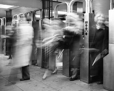 New York Subway Turnstiles, Dave Beckerman 1993 I love to see blur and the movement of life in photos! I strive for it in my own work Movement Photography, New York Photography, Photography For Sale, Dark Photography, Black And White Photography, Street Photography, Marcus Garvey, New York Subway, Nyc Subway