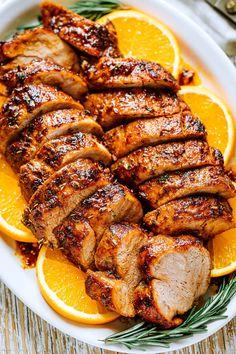 Best Pork Tenderloin Recipe, Pork Roast Recipes, Meat Recipes, Cooking Recipes, Pork Loin, Pork Tenderloin Medallions, Pork Tenderloin Marinade, Traeger Pork Tenderloin, Pork Cube Steaks