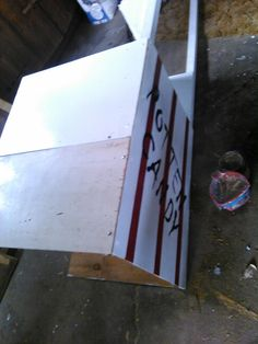 Putting the sides on and painting the ROTTEN CANDY stand